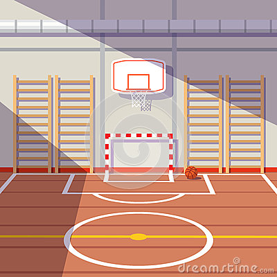 Free School Or University Gym Hall Royalty Free Stock Images - 66463259