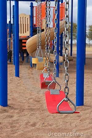 School or Park Playground Equipment with Swings