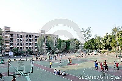 School playground Editorial Stock Photo