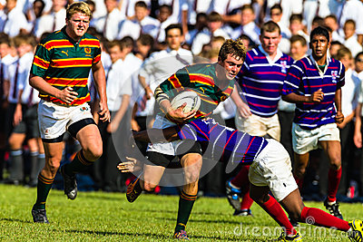 School Rugby Action Derby Editorial Photo