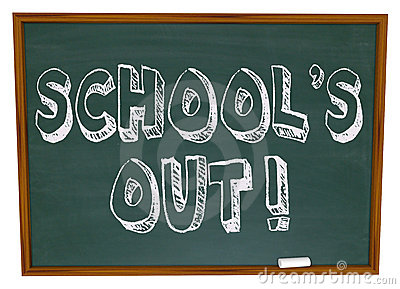 School s Out - Written on Chalkboard