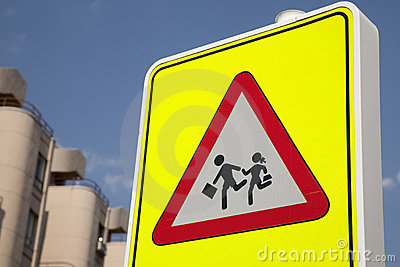 School Safety Sign Stock Image - Image: 15264161