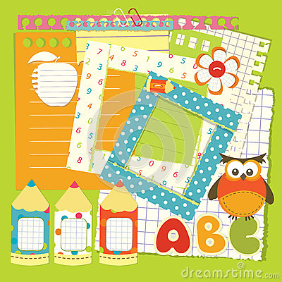 School scrapbook set