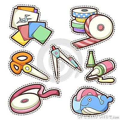 Free School Set. Set Of Different School Items Stock Photography - 32843472