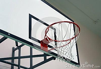 School sports hall: basketball board