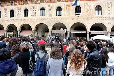 School strike in Italy Editorial Stock Image