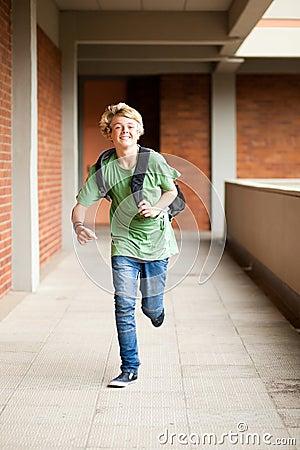 School student running
