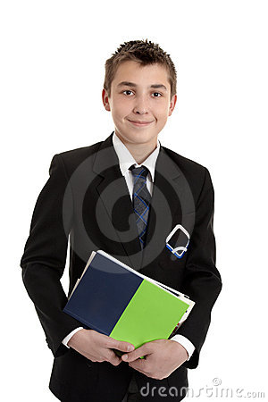 School student with text books