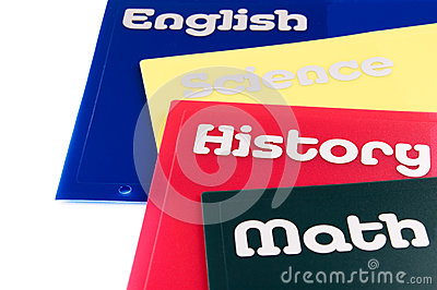 School subject folders