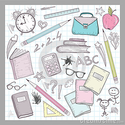 School supplies elements