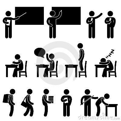 Free School Teacher Student Class Classroom Symbol Royalty Free Stock Photo - 20997935