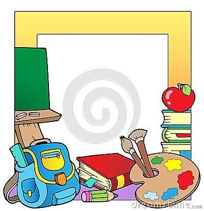 School theme frame 2