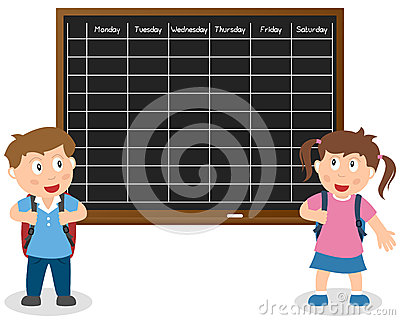 School Timetable with Kids