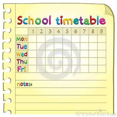 School Timetable Topic Image 1 Images Image 32484584 – School Time Table Designs
