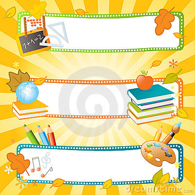 School vector banners