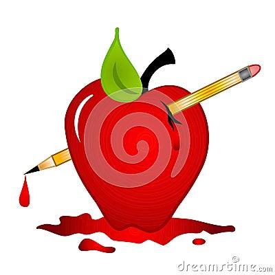 School Violence Bloody Apple