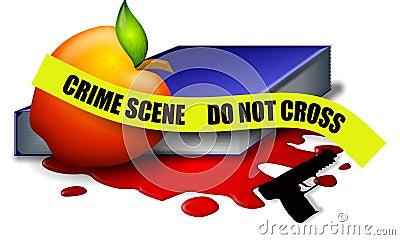 School Violence Crime Scene Tape