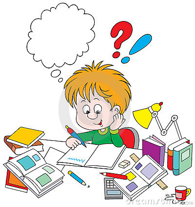 Schoolboy with homework