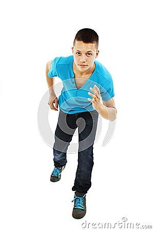 Schoolboy running