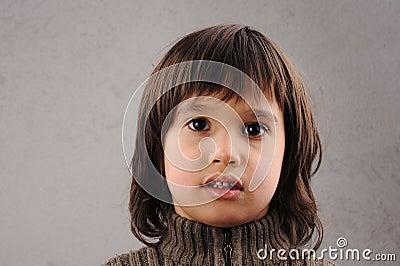 Schoolboy, series of clever kid 6-7 years old