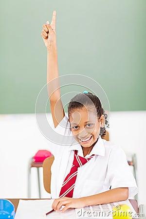 Schoolgirl arm up