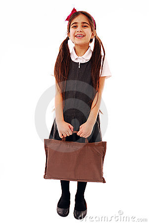 Schoolgirl with bag