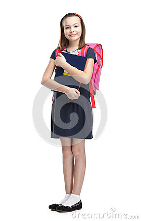 Schoolgirl with the briefcase