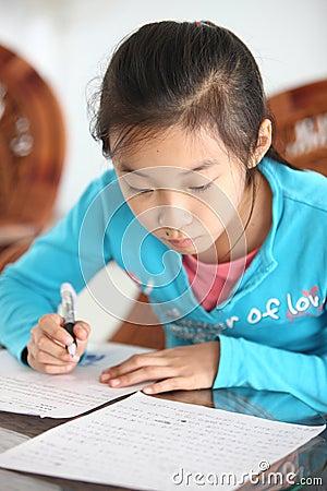 Schoolgirl homework