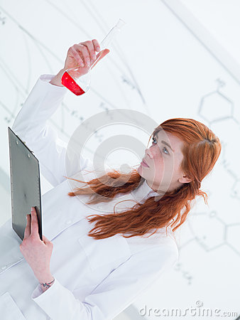 Schoolgirl laboratory analysis