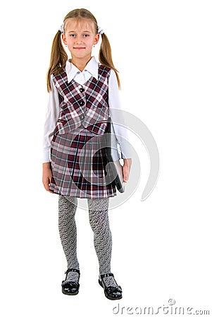 Schoolgirl With Laptop.