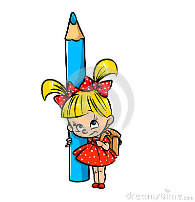 Schoolgirl pencil