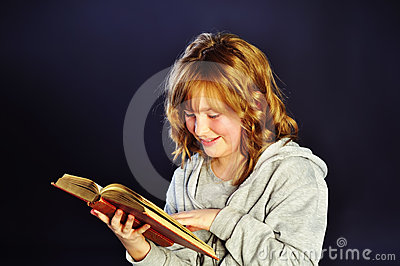 Schoolgirl Reading