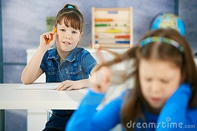 Schoolgirls in class