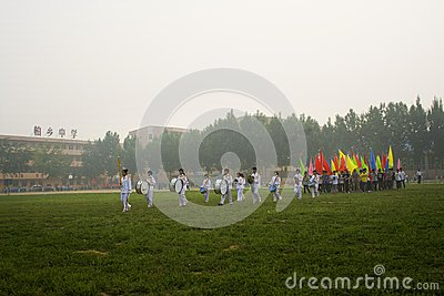 The schools opening ceremony of the games Editorial Photo