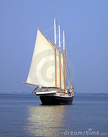 Free Schooner At Sea Royalty Free Stock Images - 970569