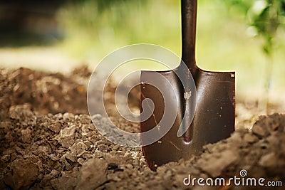 Schop in grond