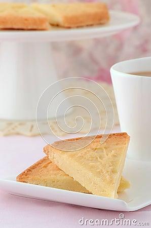Schotse zandkoek met thee