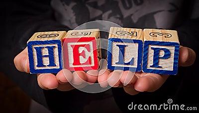 Schrei für Hilfe