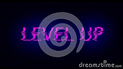 Schreibbuchstaben auf Stufe nach oben mit schwarzem Rauschen, 3D-Rendering-Hintergrund, Computergenerierung für Gaming lizenzfreie abbildung