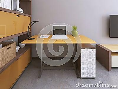 Gelber und grauer stuhl m belideen for Grauer schreibtisch
