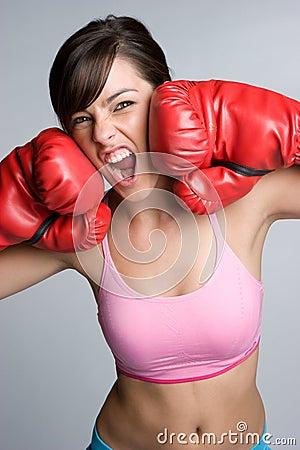 Schreiender Boxer