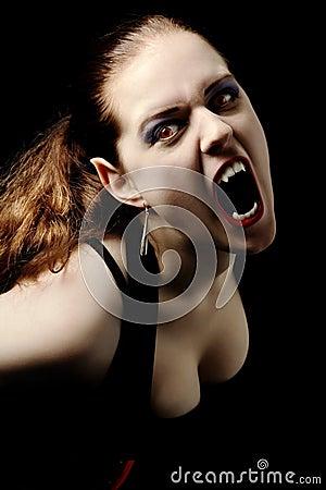 Schreiender Vampir