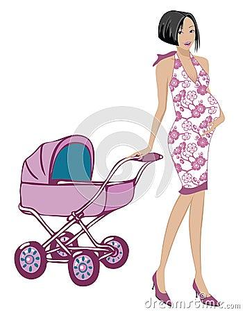 Schwangere Mamma