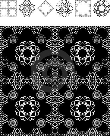 Schwarze geometrie der tapete lizenzfreie stockbilder for Schwarze mustertapete