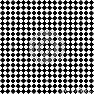 Schwarze u. weiße Diamant-Checks