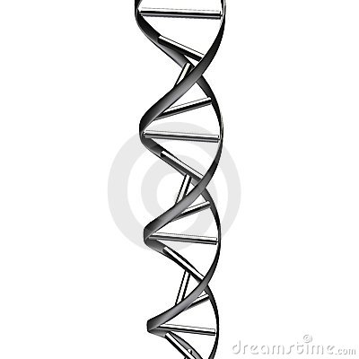 Schwarzer DNA-Auszug