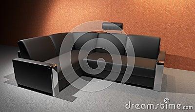 schwarzes sofa stockbild bild 18834411. Black Bedroom Furniture Sets. Home Design Ideas