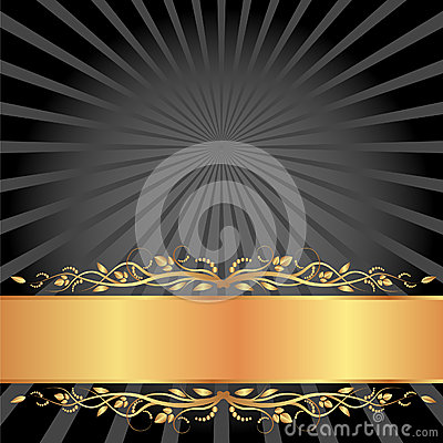 Schwarzes und Goldhintergrund