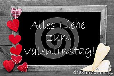 schwarzweiss blackbord rote herzen valentinstag bedeutet valentinsgru tag stockfoto bild. Black Bedroom Furniture Sets. Home Design Ideas