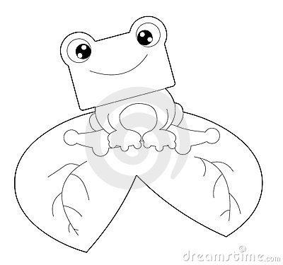 Schwarzweiss-Frosch
